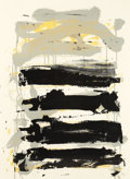 Prints, JOAN MITCHELL (American, 1926-1992). Champs (Black, Gray, Yellow), 1991-1992. Lithograph on paper. 30 x 22 inches (76.2 ...