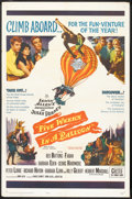 "Movie Posters:Adventure, Five Weeks in a Balloon (20th Century Fox, 1962). One Sheet (27"" X41"") and Lobby Card (11"" X 14""). Adventure.. ... (Total: 2 Items)"