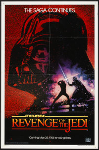 "Revenge of the Jedi (20th Century Fox, 1982). One Sheet (27"" X 41"") Advance ""Dated Style"". Science F..."