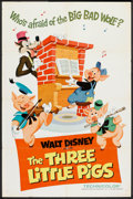 "Movie Posters:Animated, The Three Little Pigs (Buena Vista, R-1968). One Sheet (27"" X 41"").Animated.. ..."