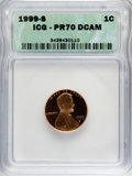 1999-S 1C PR70 Deep Cameo ICG. NGC Census: (0/0). PCGS Population (73/0). Numismedia Wsl. Price for NGC/PCGS coin in PR7...