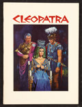 "Movie Posters:Historical Drama, Cleopatra (20th Century Fox, 1963). Program (Multiple Pages) (9.25""x 12.5""). Historical Drama.. ..."