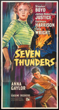 "Movie Posters:War, Seven Thunders (Rank, 1957). British Three Sheet (39.75"" X 79"").War.. ..."