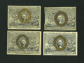Fractional Currency:Second Issue, Four Second Issue 25¢ Notes.. ... (Total: 4 notes)
