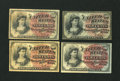 Four 10c Fourth Issue Notes Very Good or Better