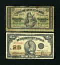 Canadian Currency: , Two Different 25¢ Notes.. ... (Total: 2 notes)