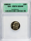 Proof Roosevelt Dimes: , 1982-S 10C PR70 Deep Cameo ICG. NGC Census: (23/0). PCGS Population(63/0). Numismedia Wsl. Price for NGC/PCGS coin in PR7...