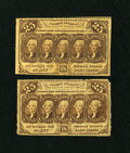 Fractional Currency:First Issue, Two 25c First Issues.. ... (Total: 2 notes)