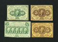 Fractional Currency:First Issue, Four First Issue Notes.. ... (Total: 4 notes)