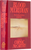 Books:First Editions, Cormac McCarthy. Blood Meridian. New York: Random House,1985.. First edition. Octavo. 337 pages.. Red cloth ove...