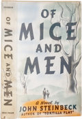 Books:First Editions, John Steinbeck. Of Mice and Men. New York: Covici Friede,1937.. First edition, first issue, with lines 20 and 21 ...