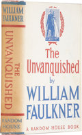 Books:First Editions, William Faulkner. The Unvanquished. New York: Random House,1938.. First edition. Octavo. Drawings by Edward Shent...