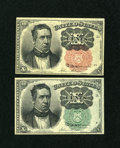 Fractional Currency:Fifth Issue, Two 10c Fifth Issue Notes.. ... (Total: 2 notes)