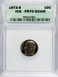 Proof Roosevelt Dimes: , 1973-S 10C PR70 Deep Cameo ICG. PCGS Population (8/0). NumismediaWsl. Price for NGC/PCGS coin in PR70:...
