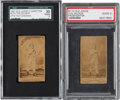 Boxing Cards:General, 1887 N174 Old Judge Prizefighters Tug Wilson SGC-Graded Pair (2)....