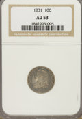 Bust Dimes: , 1831 10C AU53 NGC. NGC Census: (4/219). PCGS Population (19/176).Mintage: 771,350. Numismedia Wsl. Price for NGC/PCGS coin...