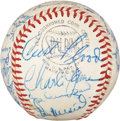 Autographs:Baseballs, Circa 1960 St. Louis Cardinals Team Signed Ball....