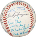 Autographs:Baseballs, 1960 National League All Star Team Signed Baseball. ...
