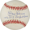 Autographs:Baseballs, Don Larsen Single Signed Baseball. ...