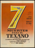 "Movie Posters:Adventure, Siete Muertes Para el Texano (Productora Filmica Mexico, 1971).Mexican One Sheet (27"" X 37""). Adventure.. ..."