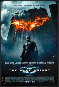 """The Dark Knight (Warner Brothers, 2008). One Sheet (27"""" X 40"""") DS Advance Style E. Action"""