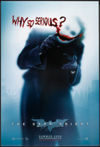 """The Dark Knight (Warner Brothers, 2007). One Sheet (27"""" X 40"""") DS Advance Style A. Action"""
