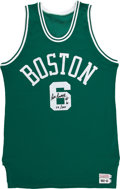 Basketball Collectibles:Others, Bill Russell Signed Jersey. ...