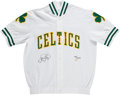 Basketball Collectibles:Others, Larry Bird UDA Signed Warm Up Jacket. ...