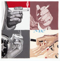 Prints, JULIA JACQUETTE (American, b. 1964). Untitled (Men's Hand's, Smoking), 2000. Print on paper. 7 x 7 inches (17.8 x 17.8 c...