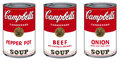 Prints, After ANDY WARHOL (American, 1928-1987). Soup Can Series # 1 (Portfolio of 10 prints). Screenprint on museum board. Each...