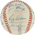Autographs:Baseballs, 1960 Detroit Tigers Team Signed Baseball from Ed Yost Family....