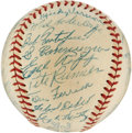 Autographs:Baseballs, 1952 Washington Senators Team Signed Baseball from Ed YostFamily....