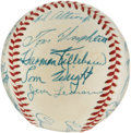 Autographs:Baseballs, 1955 Washington Senators Team Signed Baseball....