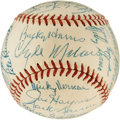 Autographs:Baseballs, 1953 Washington Senators Team Signed Baseball....