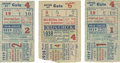 Baseball Collectibles:Tickets, 1938-39 World Series New York Yankees Ticket Stub Lot.... (Total: 3items)