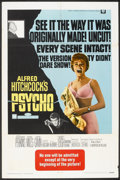 """Movie Posters:Hitchcock, Psycho (Universal, R-1969). One Sheet (27"""" X 41""""). Hitchcock.. ..."""