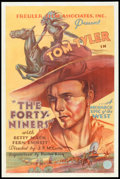 "Movie Posters:Western, The Forty-Niners (Freuler Film, 1932). One Sheet (27"" X 41"").Western.. ..."