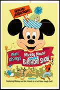 "Movie Posters:Animated, Mickey Mouse Happy Birthday Show (Buena Vista, R-1968). One Sheet(27"" X 41""). Animated.. ..."