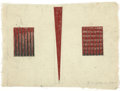 Fine Art - Work on Paper, RICHMOND BURTON (American, b. 1960). Study for Punctured Space, 1989. Oil on lined paper. 8-1/2 x 12 inches (21.6 x 30.5...