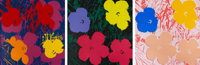 After ANDY WARHOL (American, 1928-1987) Flowers (Portfolio of 10 prints) Screenprint on museum board