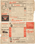 Autographs:Others, 1932 St. Louis Cardinals vs. New York Giants Scorecard Signed byMel Ott and Others....