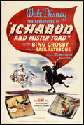 "Movie Posters:Animated, The Adventures of Ichabod and Mr. Toad (RKO, 1949). One Sheet (27"" X 41""). Animated.. ..."