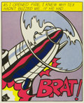 Fine Art - Work on Paper:Print, ROY LICHTENSTEIN (American, 1923-1997). As I Opened Fire,Tryptic, 1966. Offset lithograph on paper. 25-1/8 x 20-5/8inc...