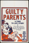 """Movie Posters:Drama, Guilty Parents (Syndicate Pictures, 1934). Poster (28"""" X 42"""").Drama.. ..."""