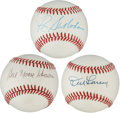 Autographs:Baseballs, New York City Stars Single Signed Baseballs. ... (Total: 3 items)