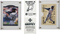 Autographs:Sports Cards, 1996 Ken Griffey, Jr. Signed Card Lot.... (Total: 4 cards)