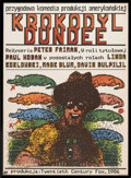 "Movie Posters:Adventure, Crocodile Dundee (20th Century Fox, 1986). Polish B1(26.5"" X36.5""). Adventure.. ..."