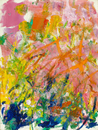 JOAN MITCHELL (American, 1926-1992) Petit Matin, 1982 Oil on canvas 18 x 24 inches (45.7 x 61.0 c