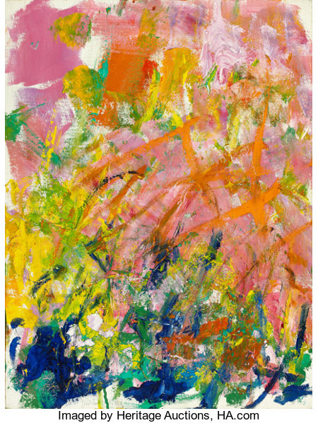 JOAN MITCHELL (American, 1926-1992) Petit Matin, 1982 Oil on canvas 18 x 24 inches (45.7 x 61.0 cm) Signed faintly i...
