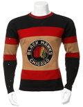 Hockey Collectibles:Uniforms, 1935-36/1936-37 Mush March Game Worn Art-Deco Style Sweater....